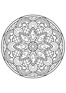 Mandala from free coloring books for adults - 4