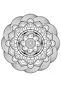 Mandala from free coloring books for adults - 5