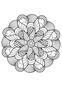 Mandala from free coloring books for adults - 6