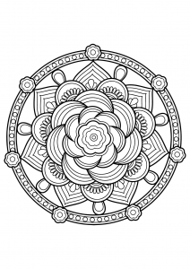 Mandala from free coloring books for adults - 7