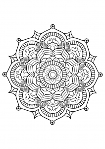 Mandala from free coloring books for adults - 8