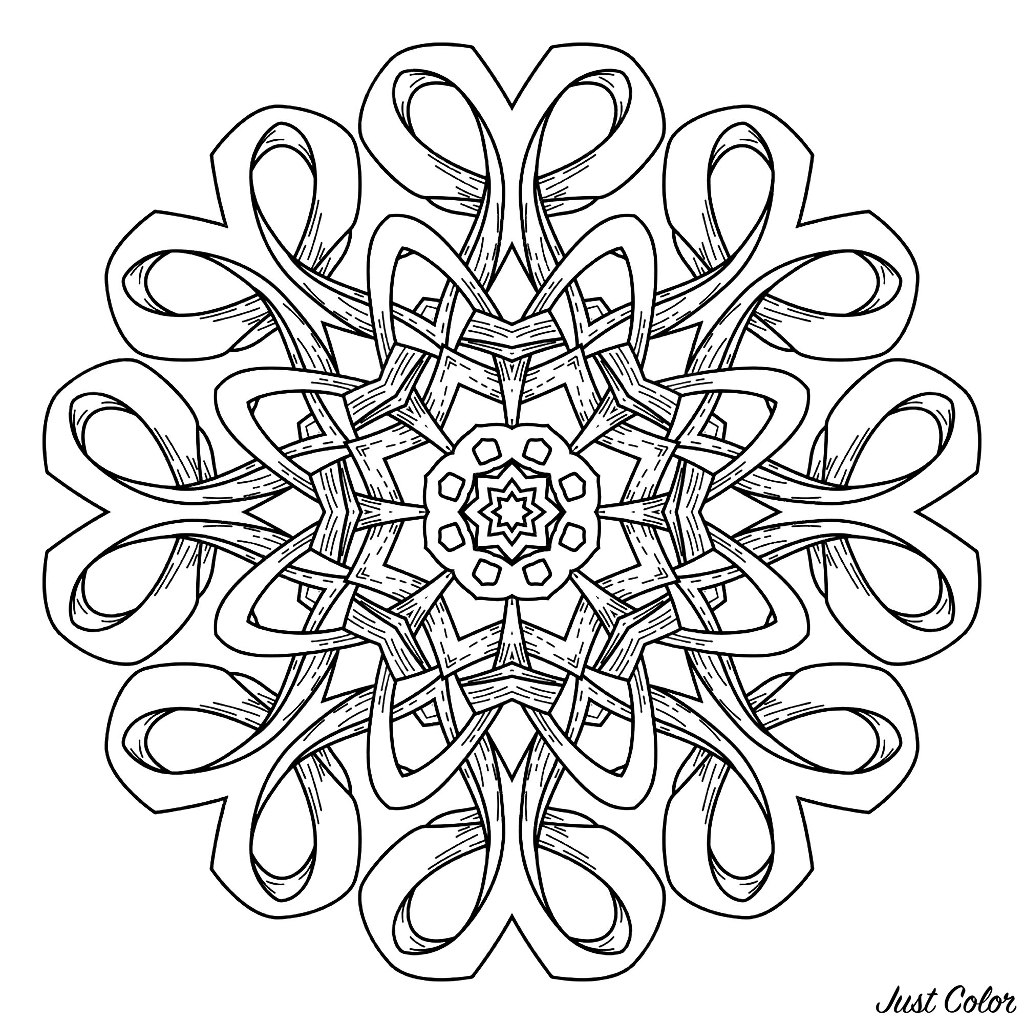 Islam, Arabic, oriental, indian, ottoman, yoga motifs. Vector illustration of a Mandala
