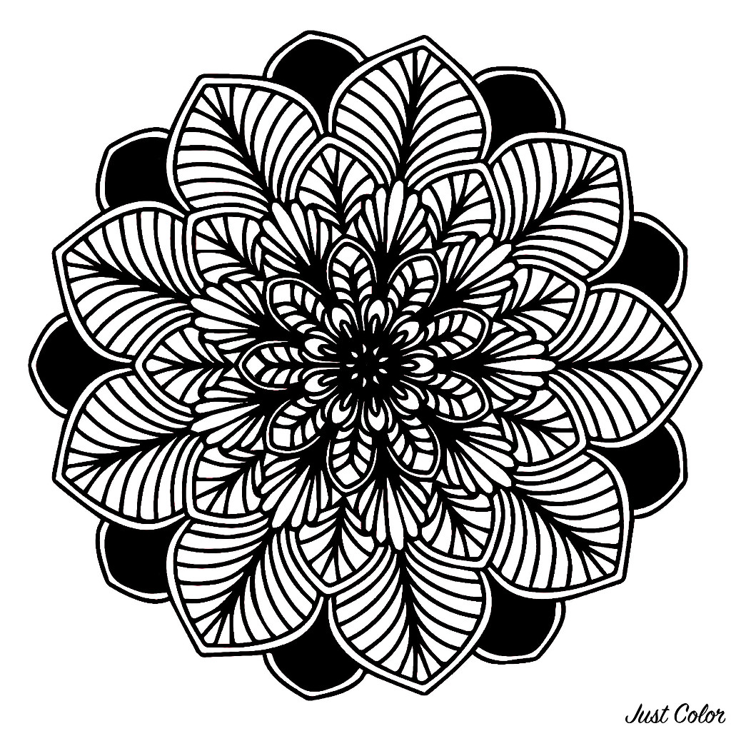 Very dark Mandala