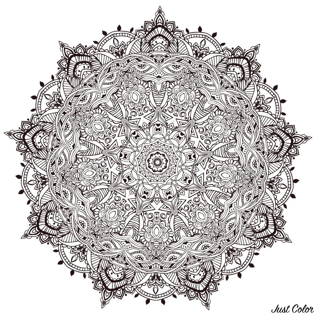 Mandala full of little details