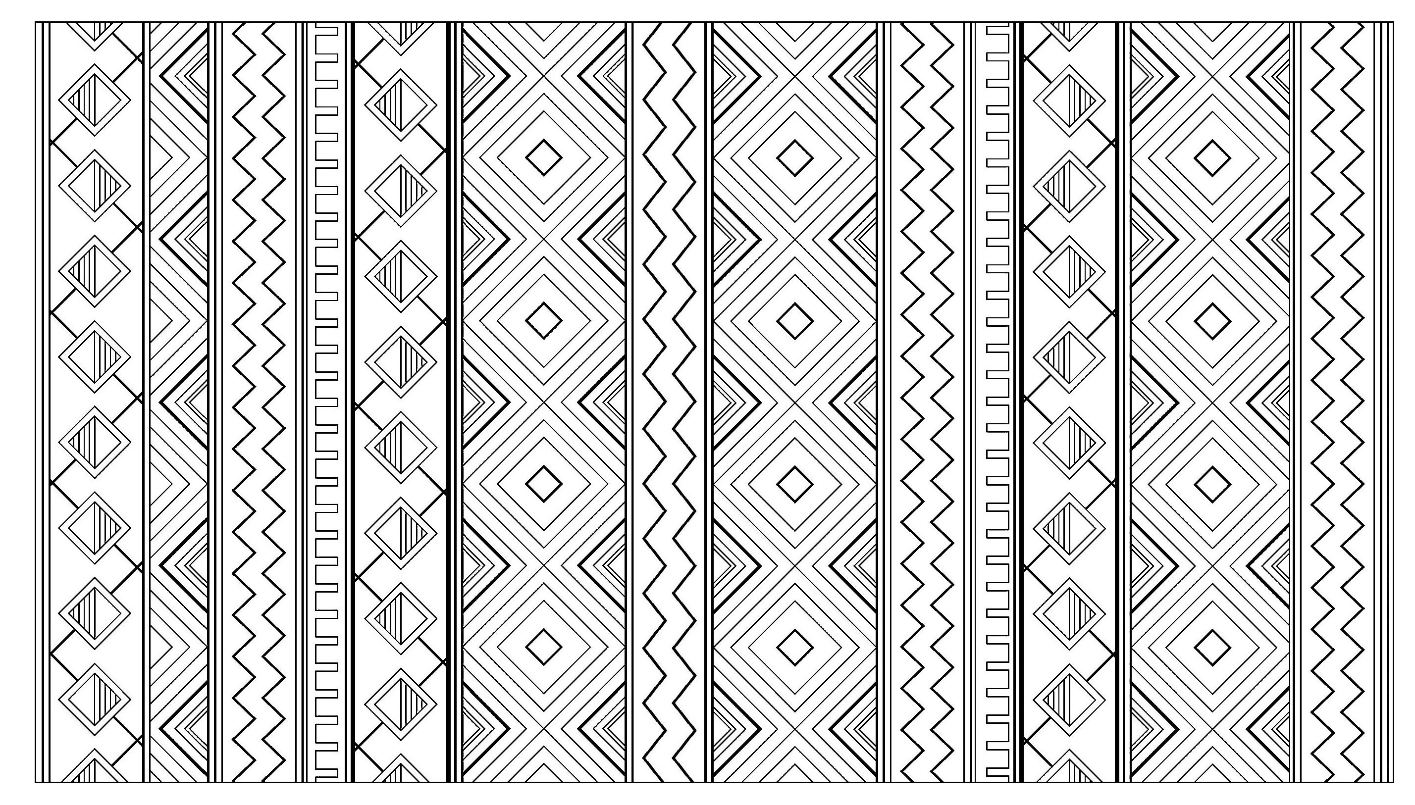 Inca aztec mayan pattern - Mayans & Incas Adult Coloring Pages