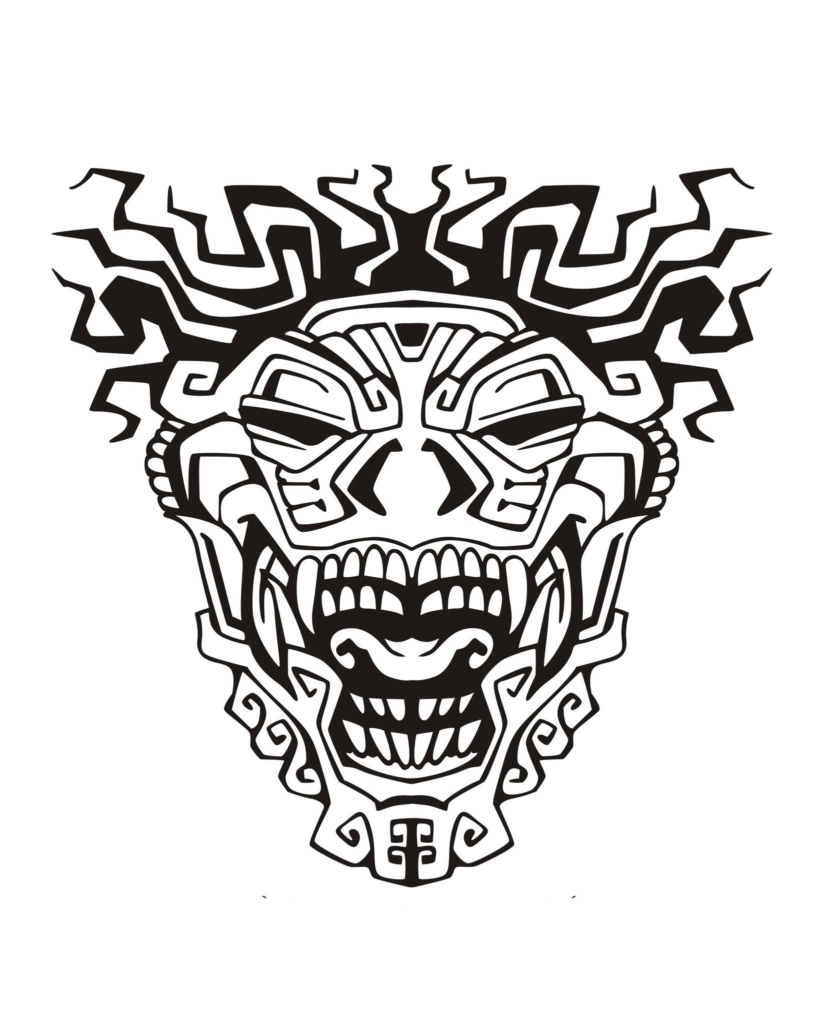 Coloring Pages For Adults Masks : Mask inspiration inca mayan aztec mayans incas