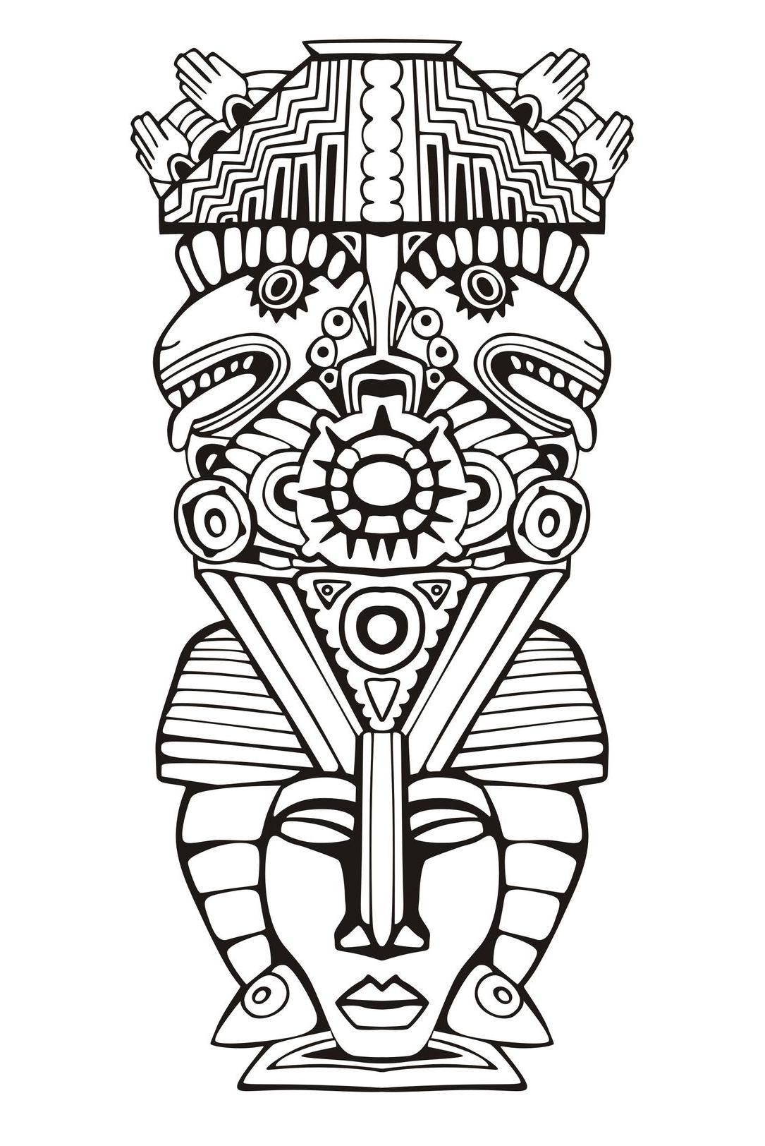 Totem inspiration inca mayan aztec