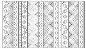 Coloring adult inca aztec mayan pattern