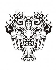 Coloring adult mask inspiration inca mayan aztec 4