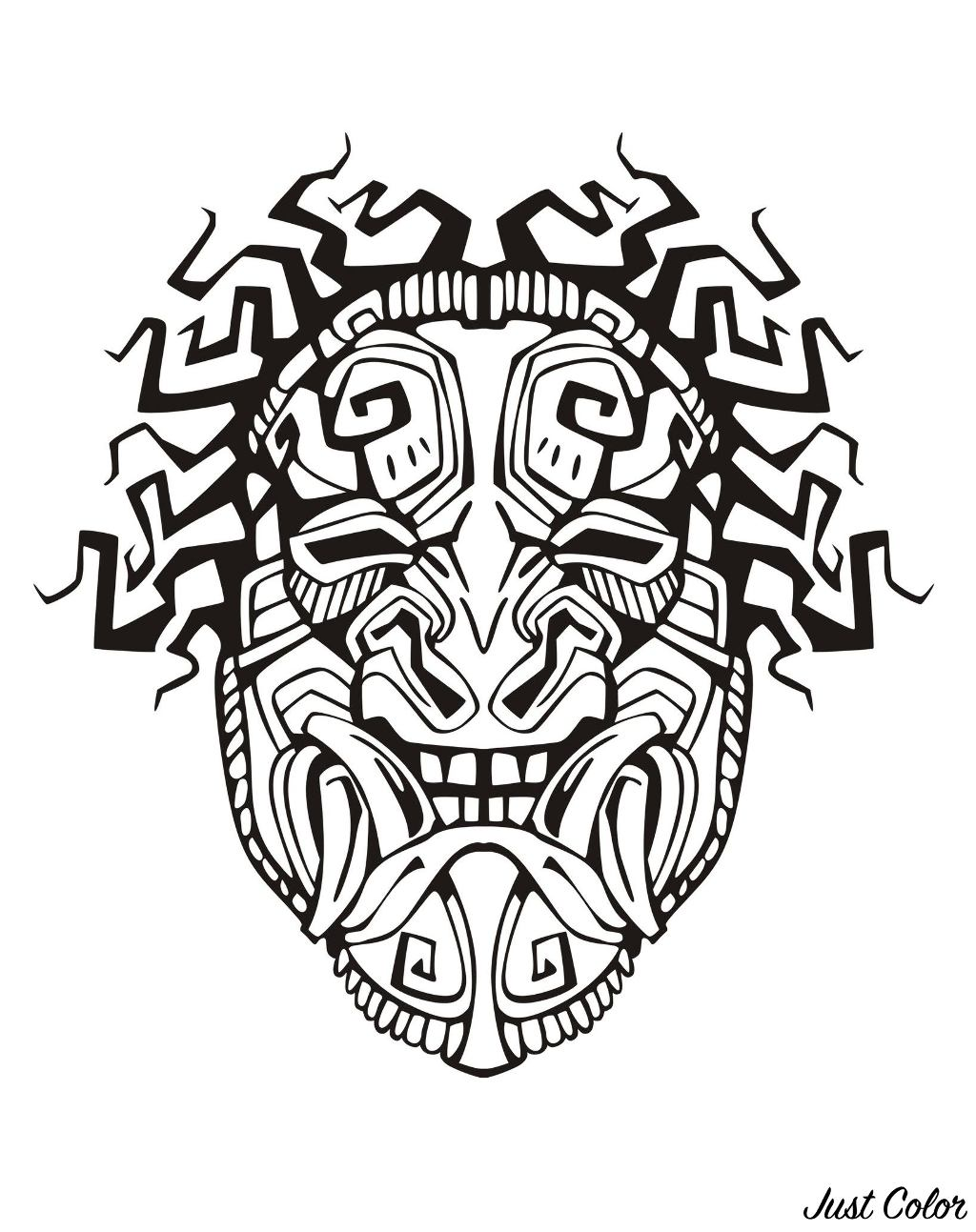 Mask inspired by Aztecs, Mayans and Incas - 1