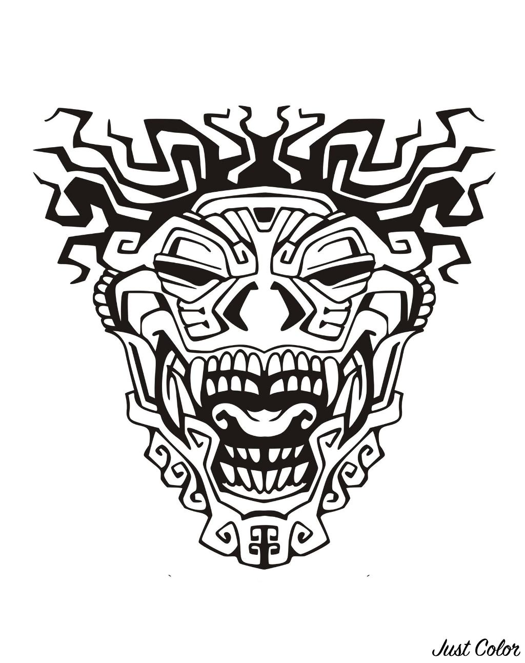 Mask inspired by Aztecs, Mayans and Incas - 3