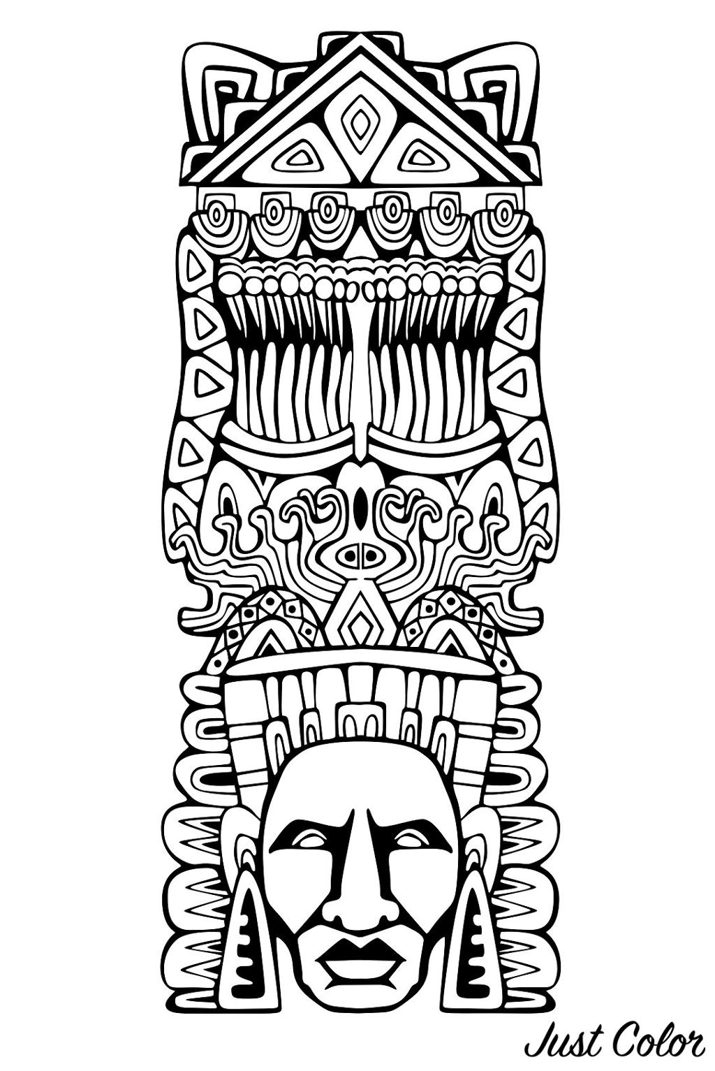 Totem inspired by Aztecs, Mayans and Incas - 1