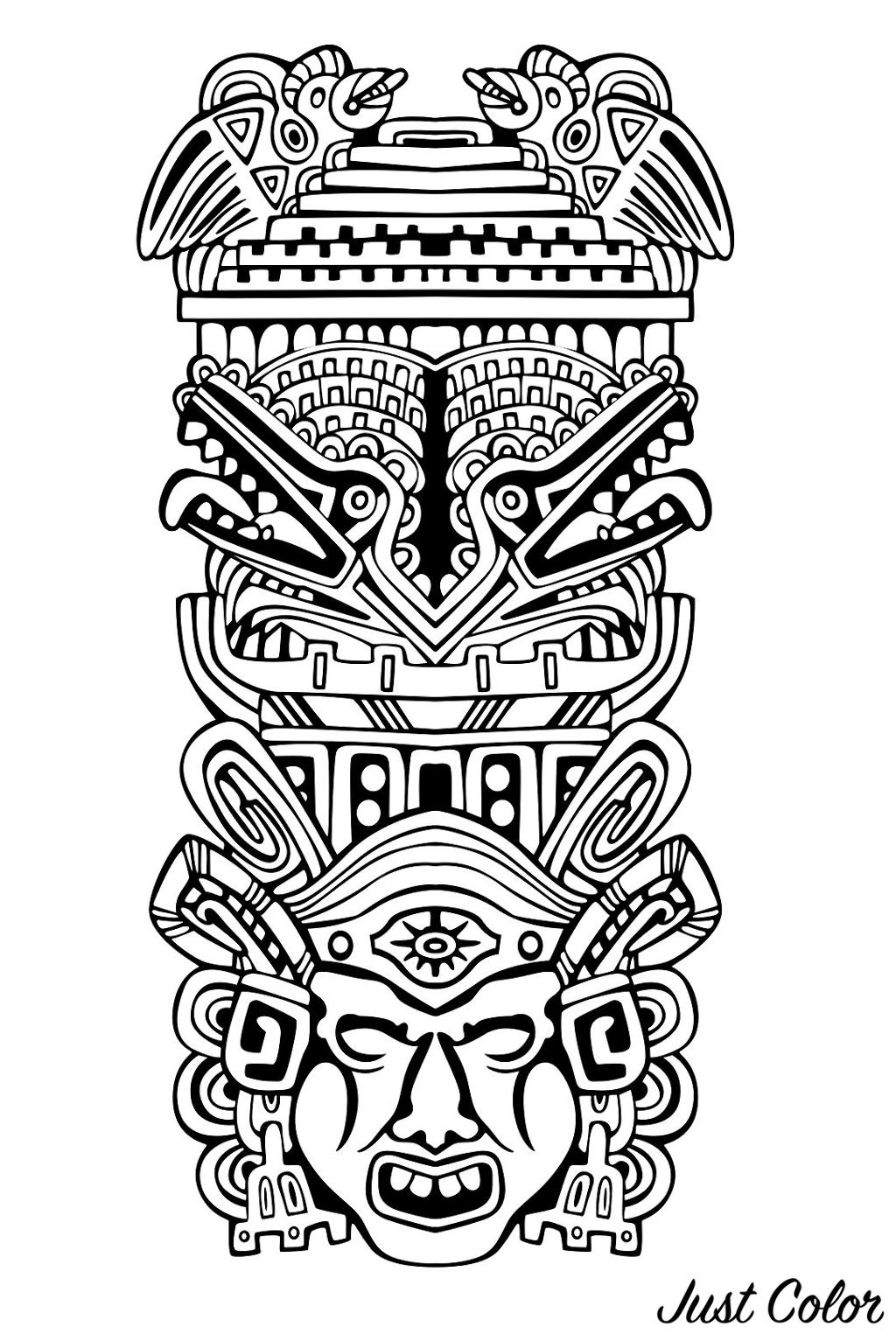 Totem inspired by Aztecs, Mayans and Incas - 4