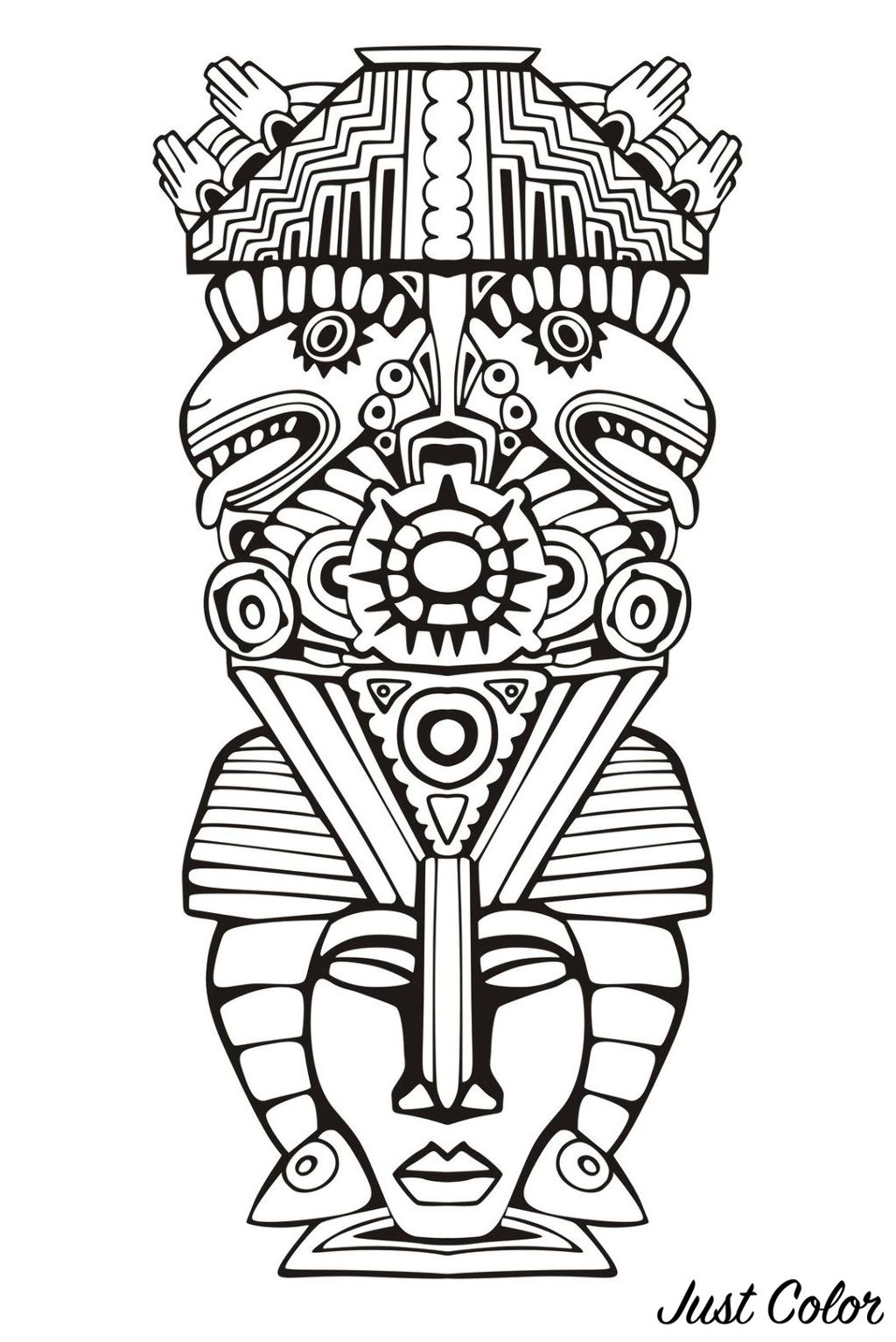 Totem inspired by Aztecs, Mayans and Incas - 6