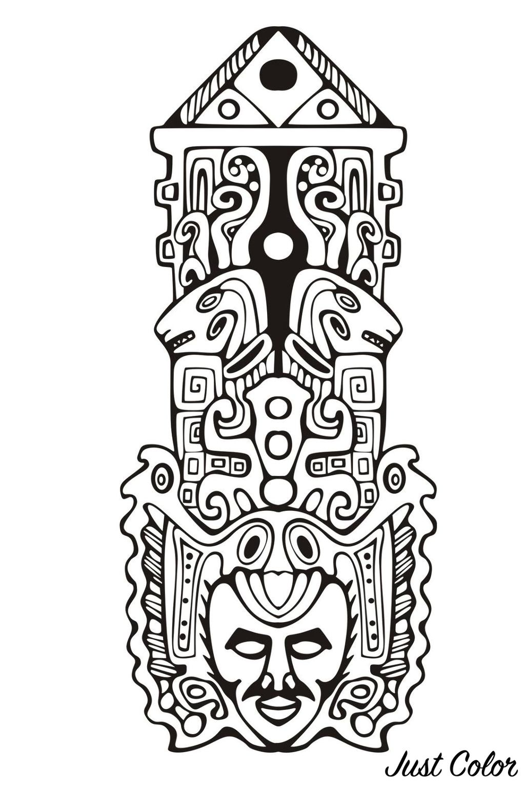 Totem inspired by Aztecs, Mayans and Incas - 7