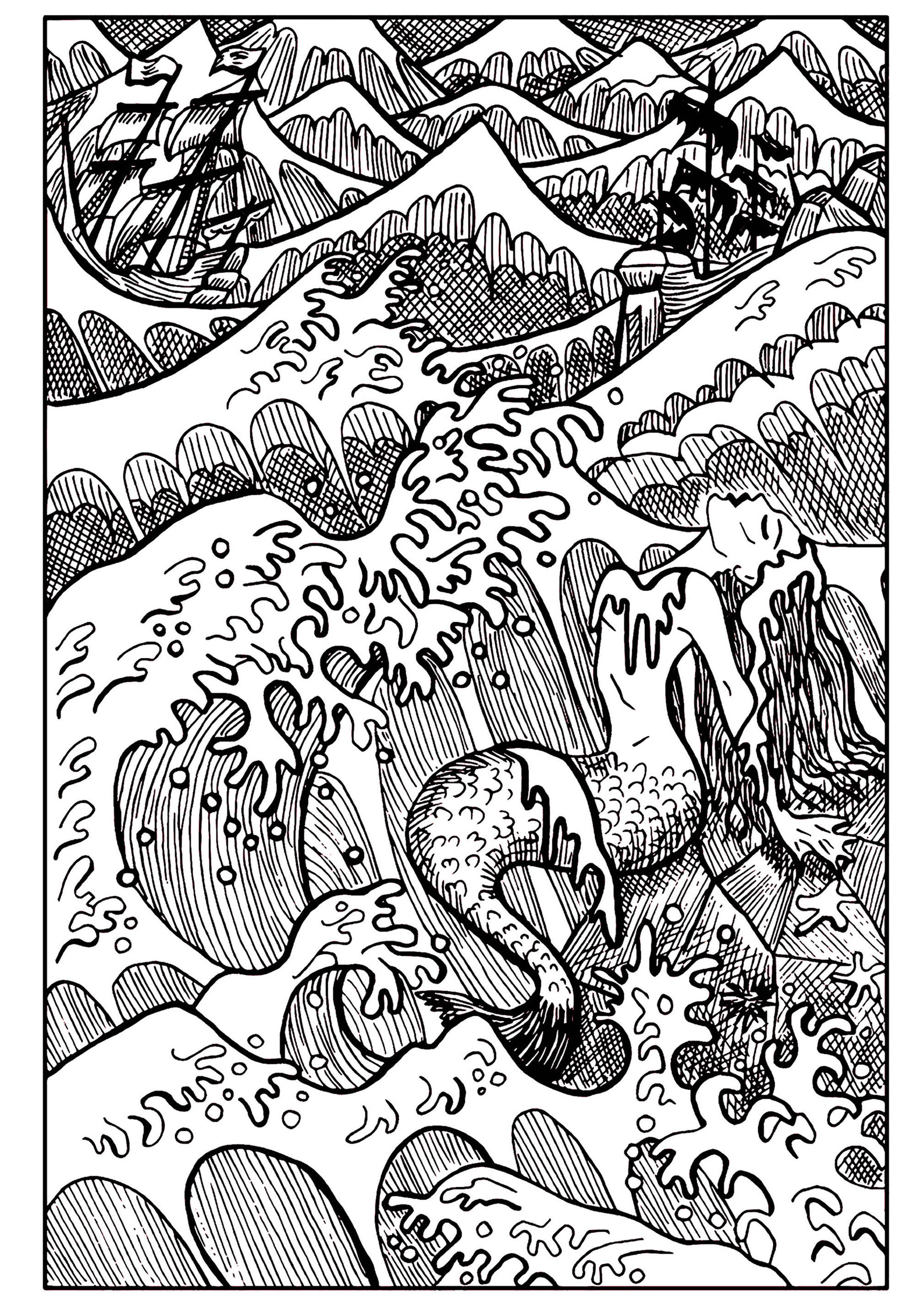Mermaid In The Sea Mermaids Adult Coloring Pages