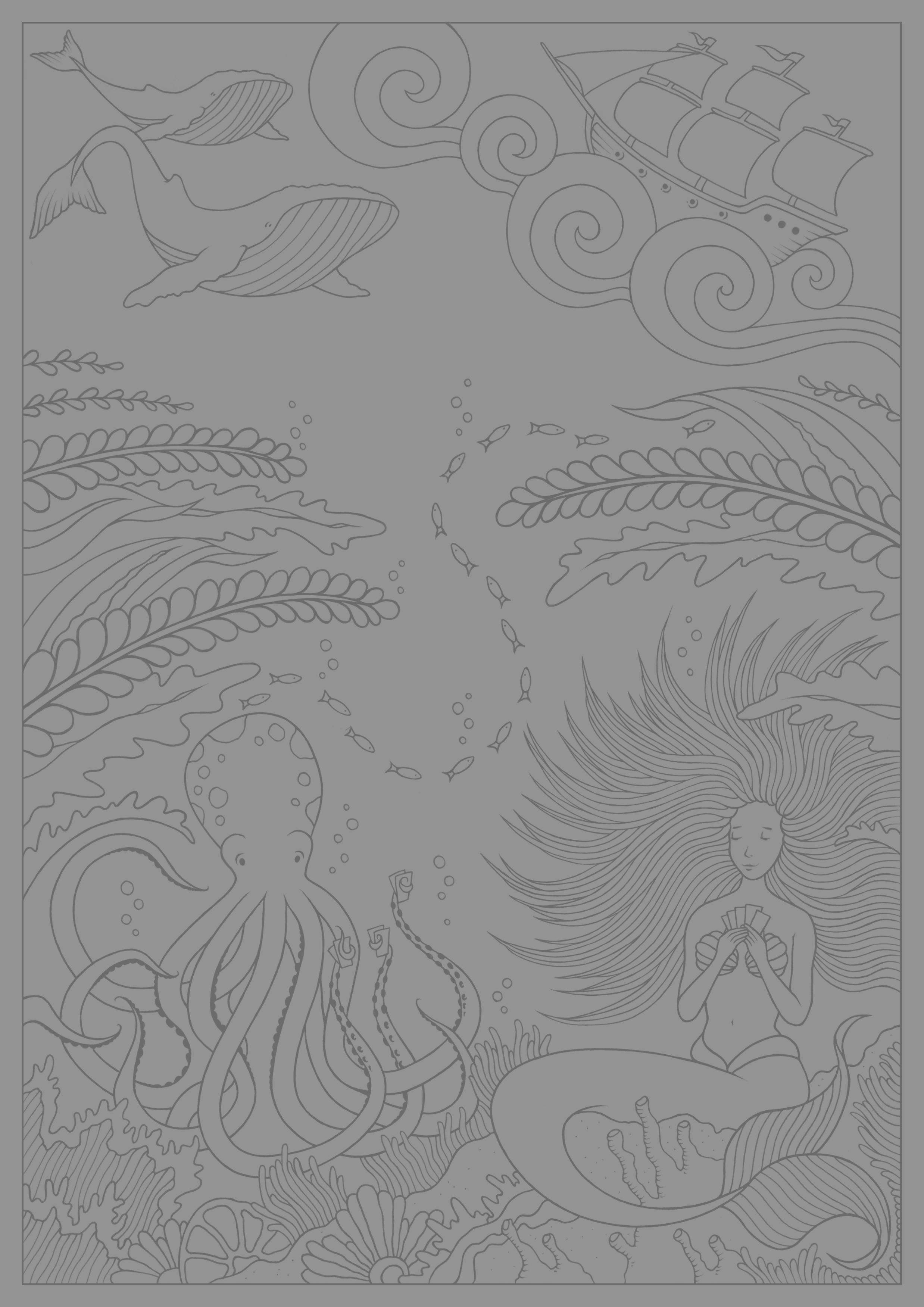 Mermaid and octopus konstantinos