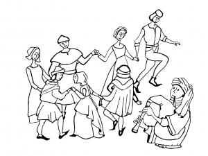 coloring adult middle age dance