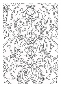 Coloring patterns medievaux