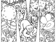 Monkeys Coloring Pages for Adults