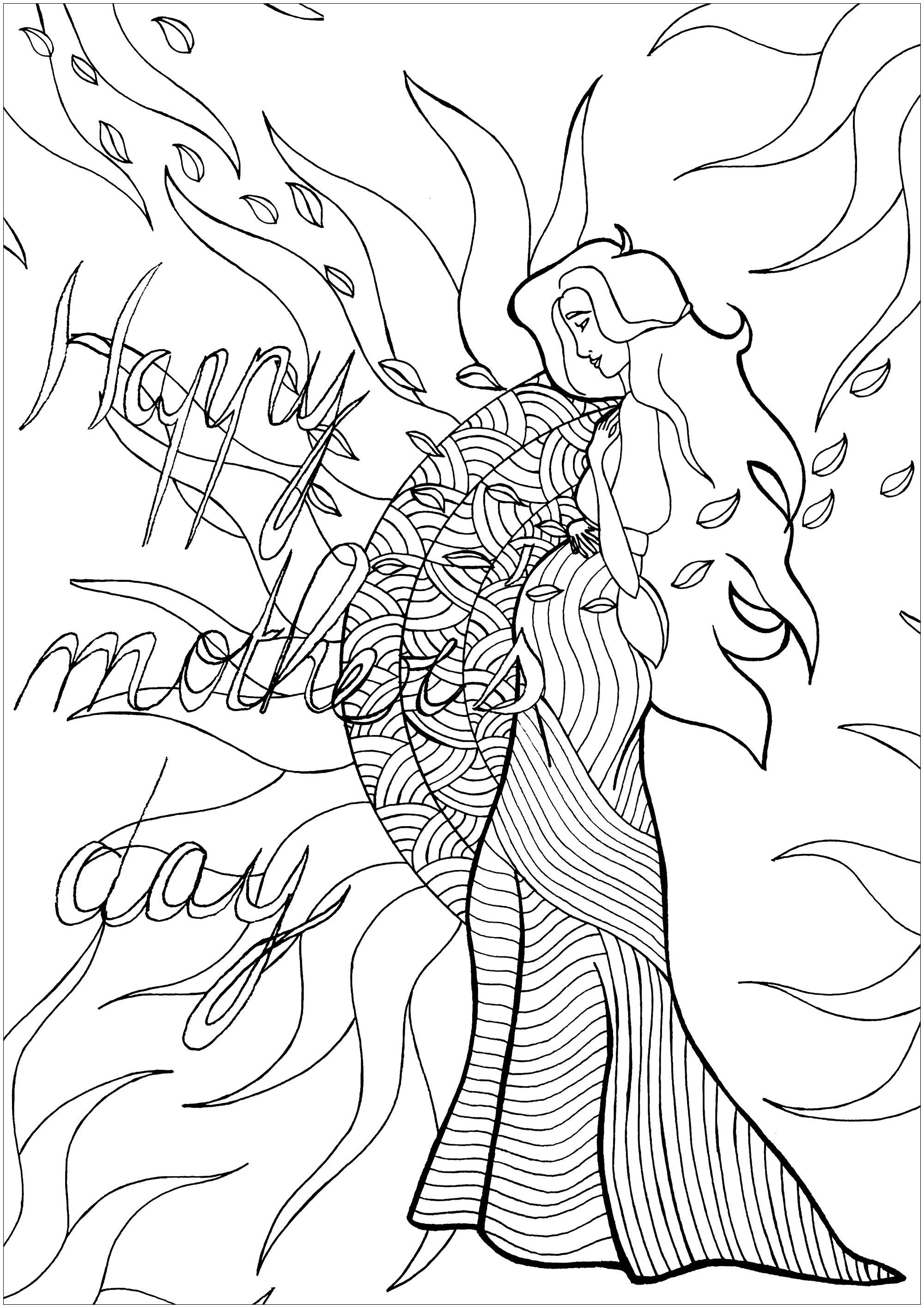 'Give life' : an exclusive coloring page to celebrate Mother's day