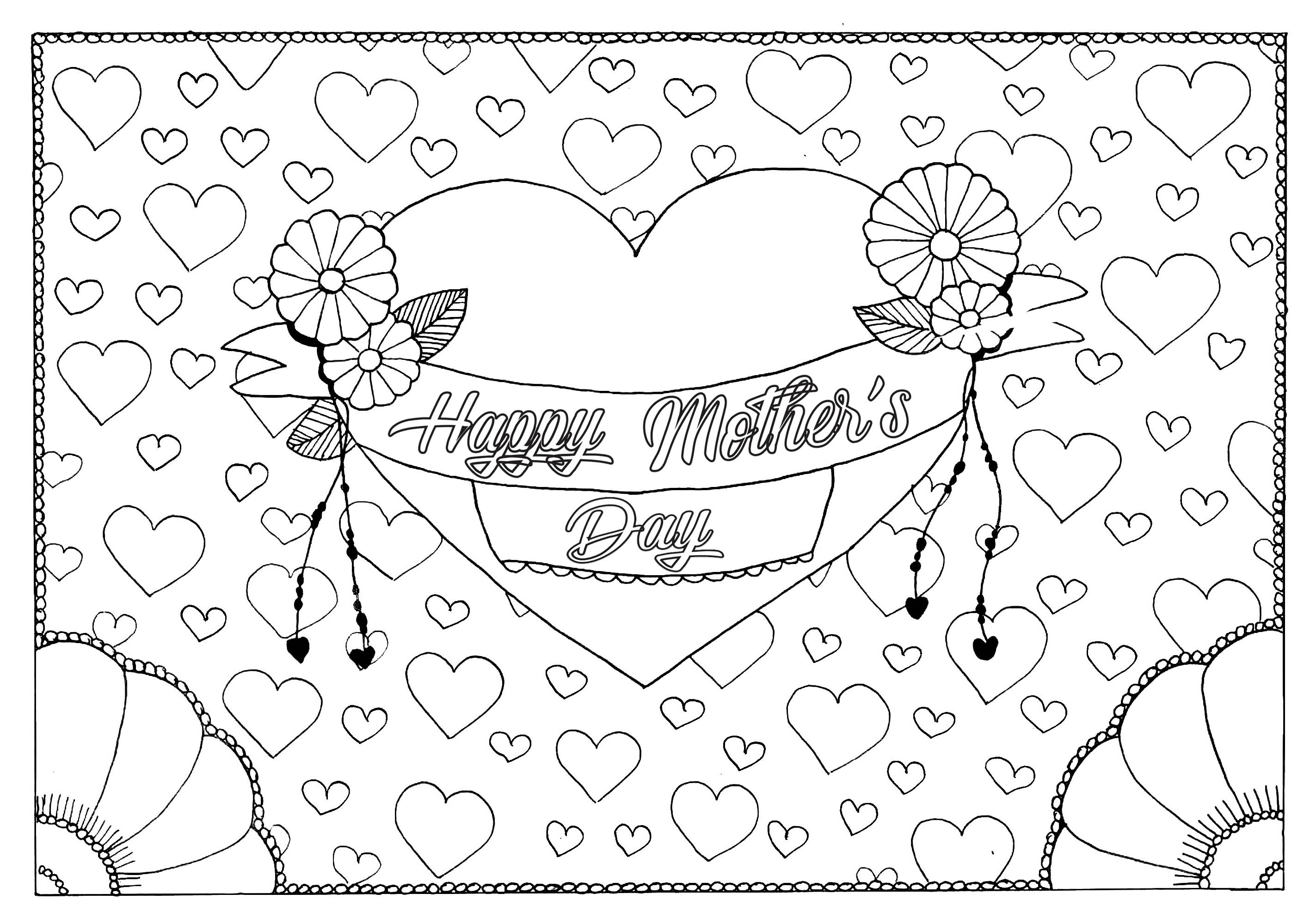 A Coloring Page For The Mothers Day