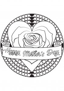 Coloring page adult mother day by allan