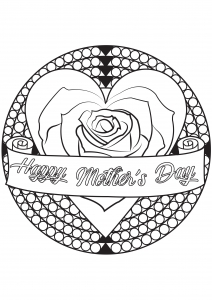 Coloring Page Special Mothers Day