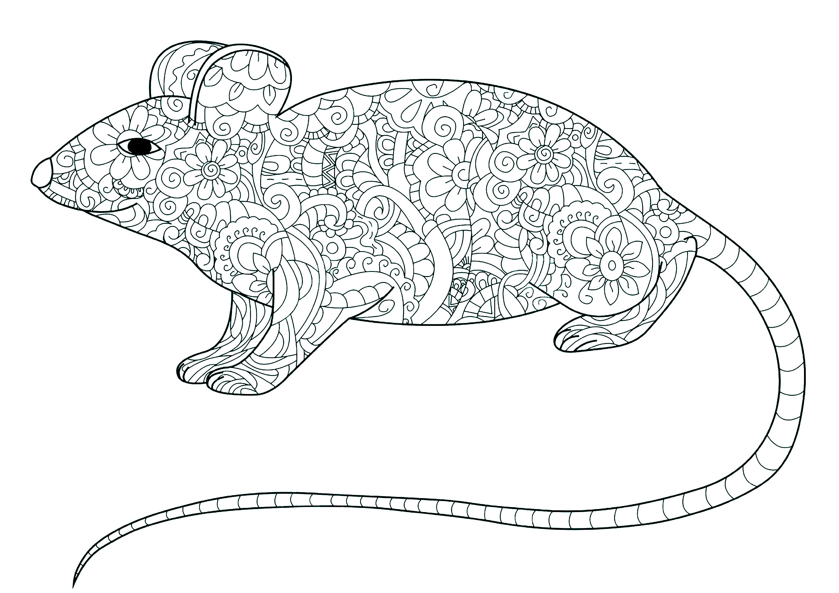 little mouse coloring pages - photo#37