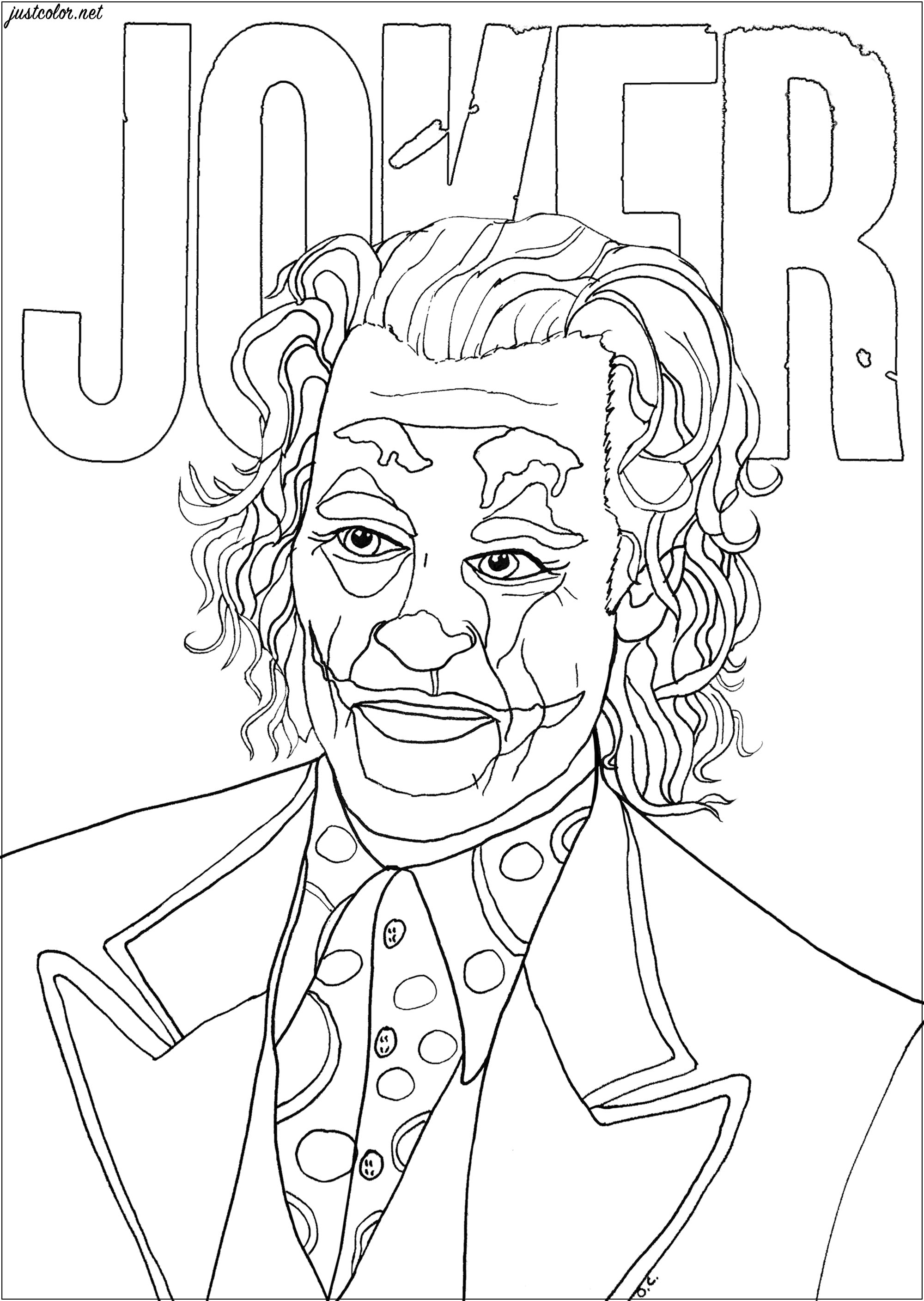 Joker Joaquin Phoenix Movies Adult Coloring Pages