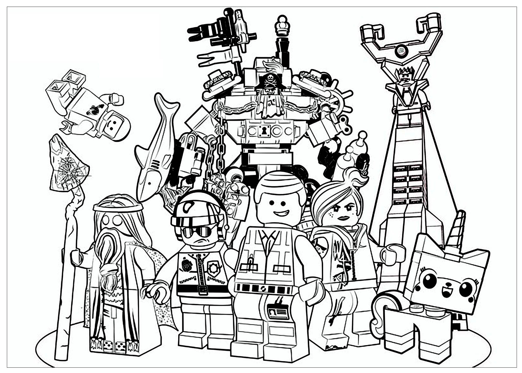 Lego Movie Coloring Pages Lego Movie  Movies  Coloring Pages For Adults  Justcolor
