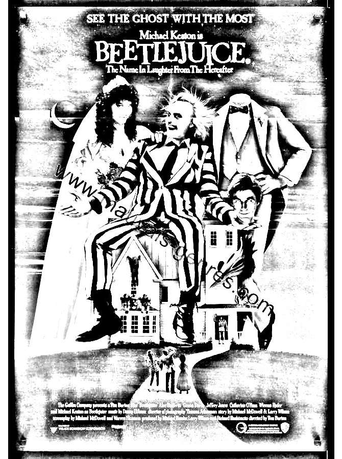 Beetlejuice movie poster movies adult coloring pages Coloring book poster