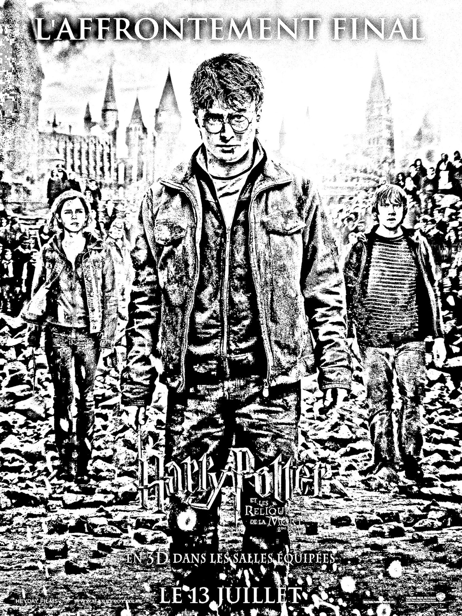 coloring movie harry potter 7 2 affiche free to print - Harry Potter Coloring Pages