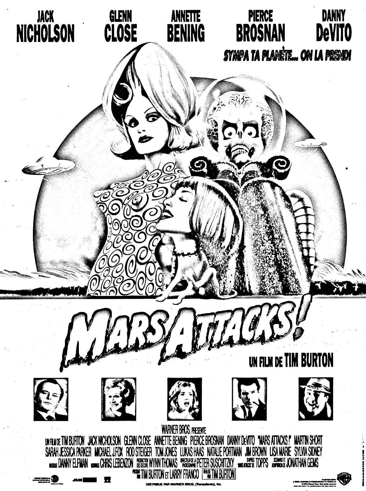 1996 Tim Burton movie Mars Attacks !