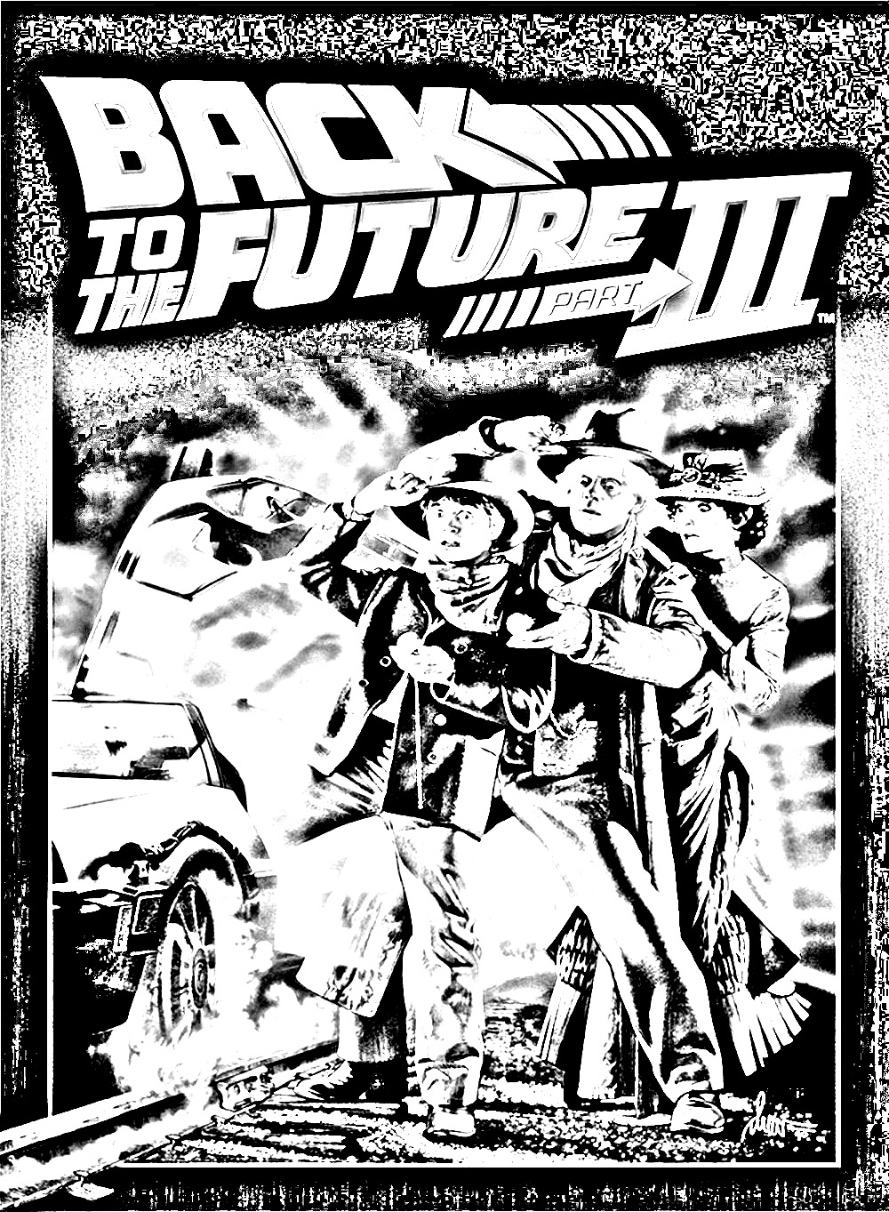 Movie retour vers le futur 3 movies adult coloring pages Coloring book poster