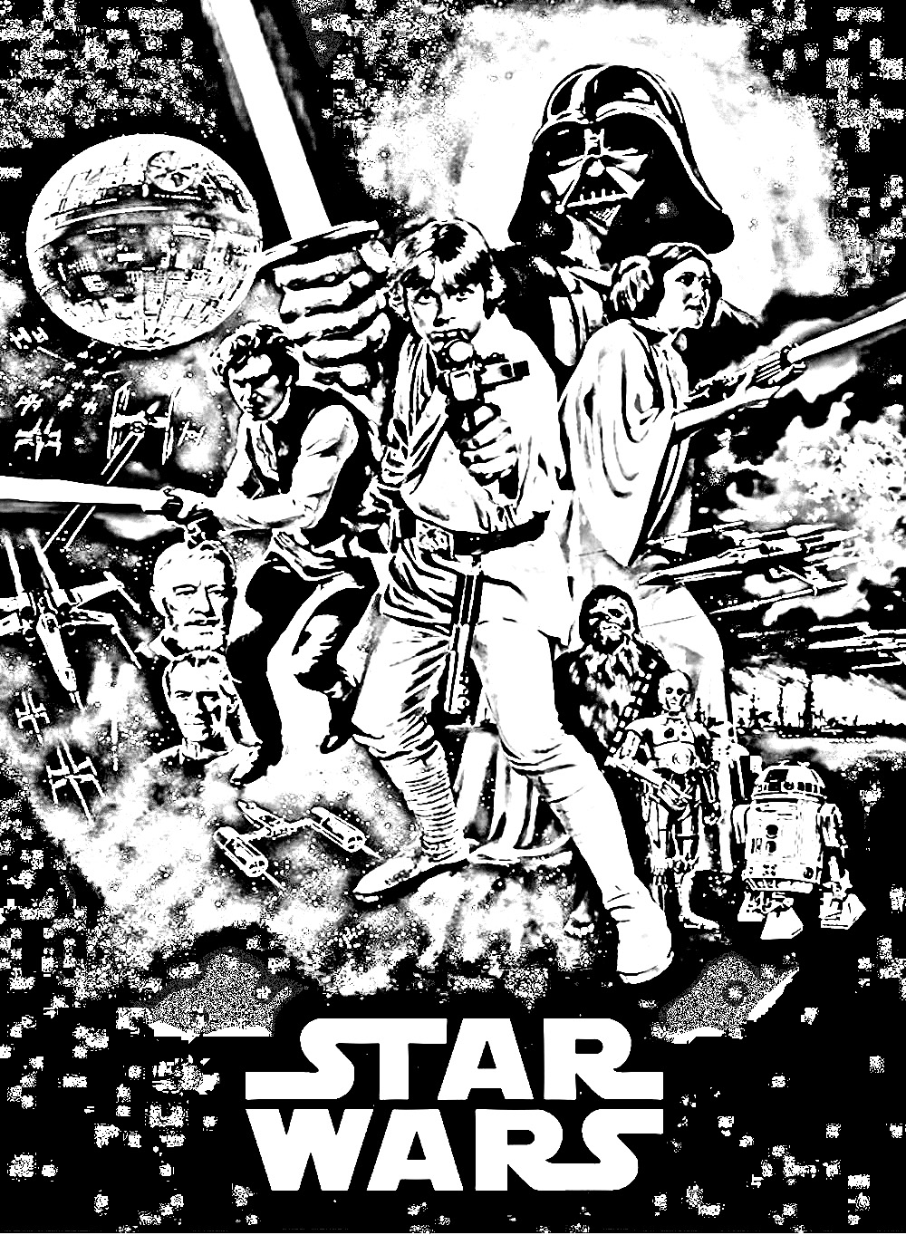 Movie star wars episode 4 Movies Adult Coloring Pages