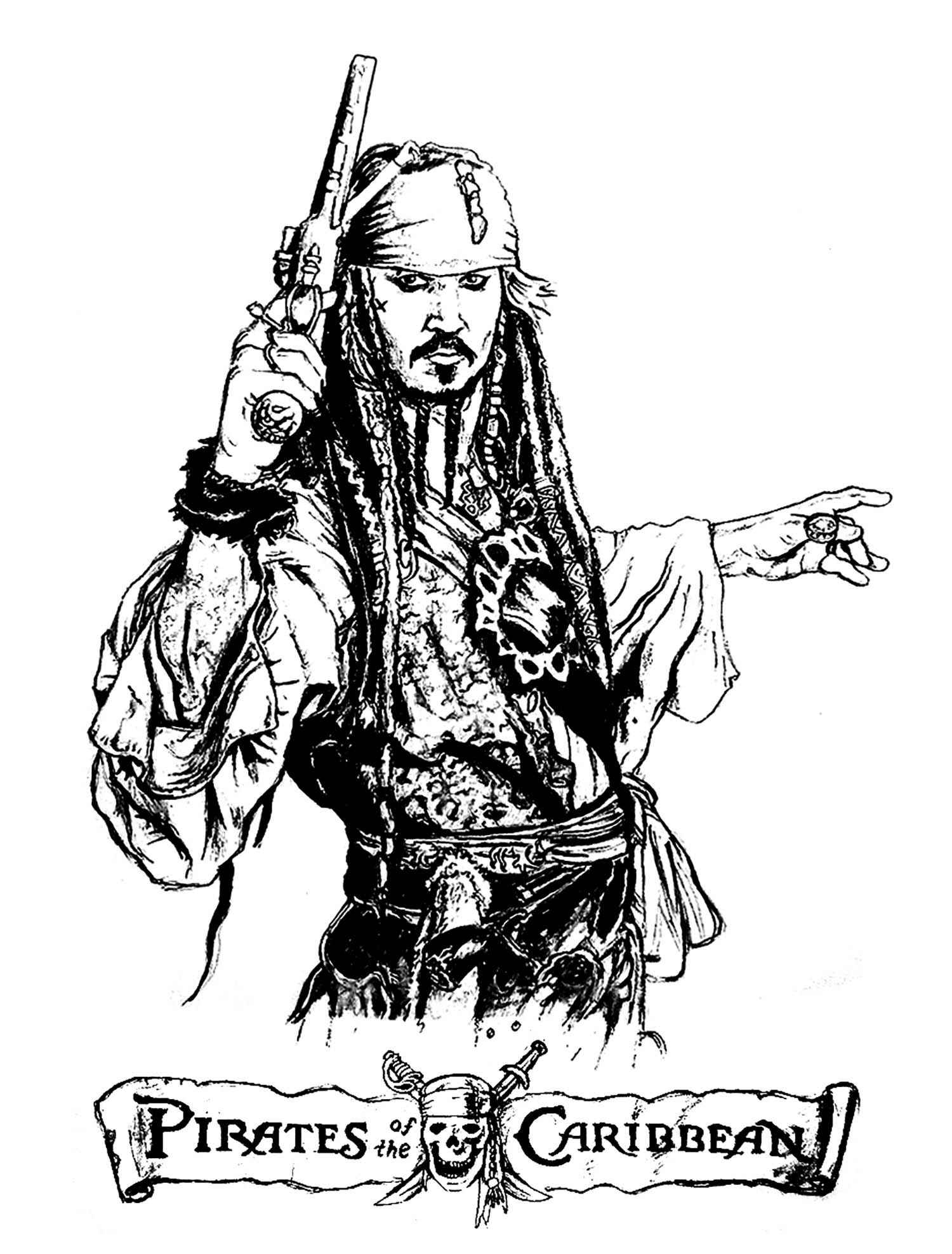 Coloring page pirates of the caribbean
