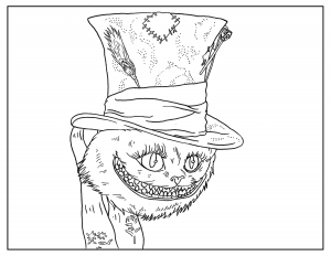 Alice-In-Wonderland-Adult-Coloring-Book-Page free to print