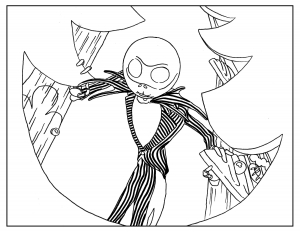 Nightmare-Before-Christmas-Adult-Coloring-Book-Page free to print