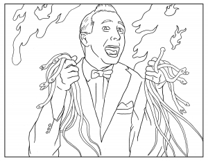 Pee-Wee-Adult-Coloring-Book-Page free to print