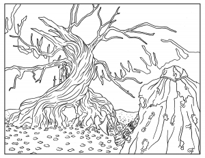 Sleepy-Hollow-Adult-Coloring-Book-Page
