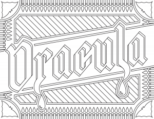 Coloring Page Inspired By The Movie Dracula For Website Readers