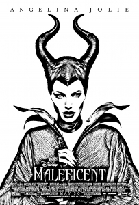 Coloring maleficent disney angelina jolie