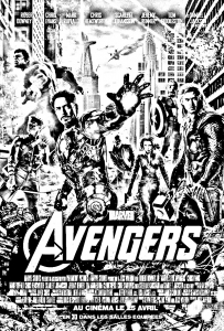 Coloring movie avengers