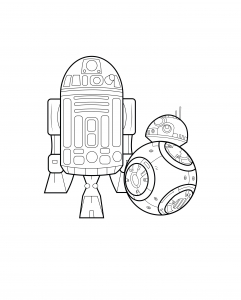 coloring page adult bb8 r2d2 by allan