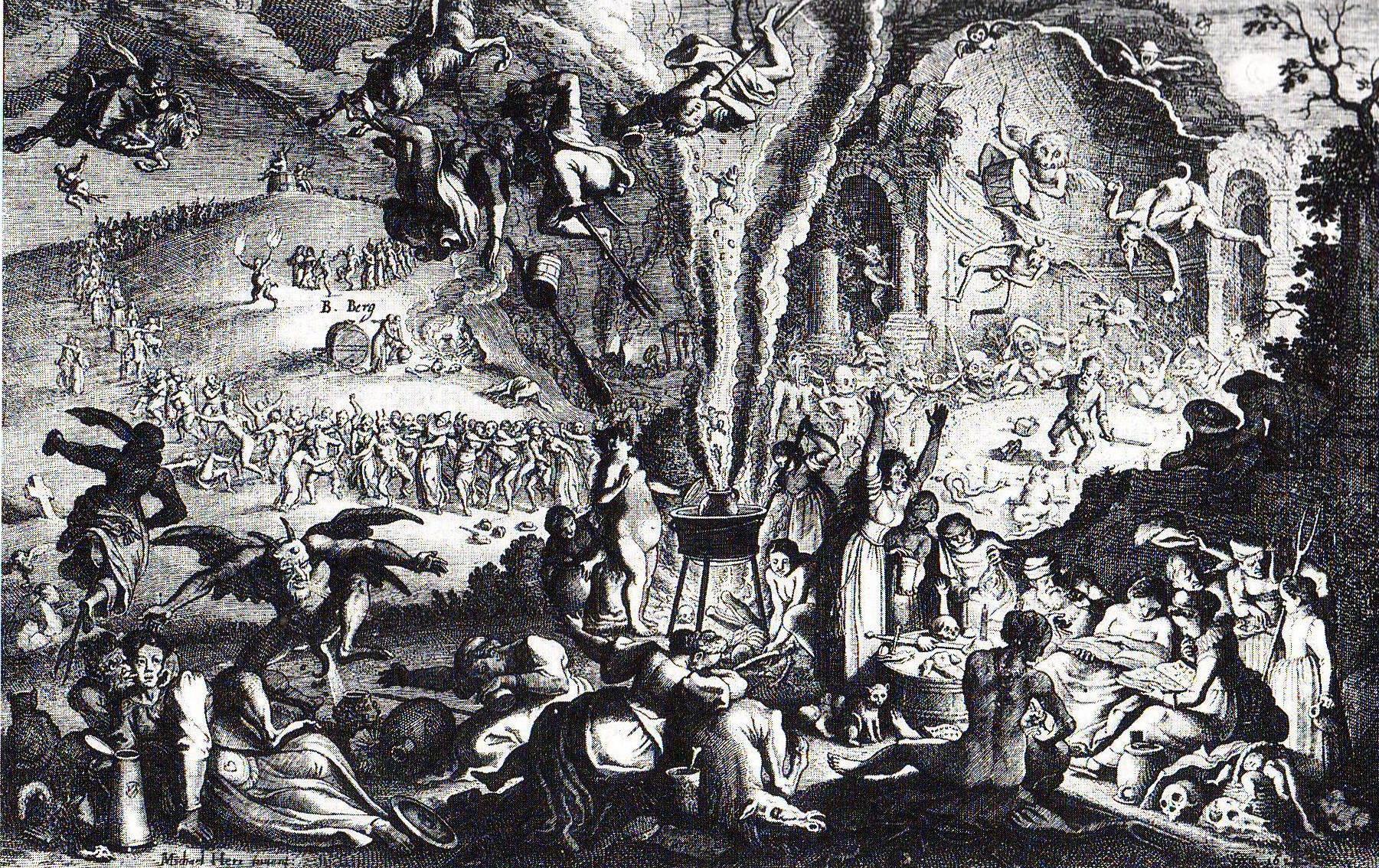 Illustration of a witch sabbat