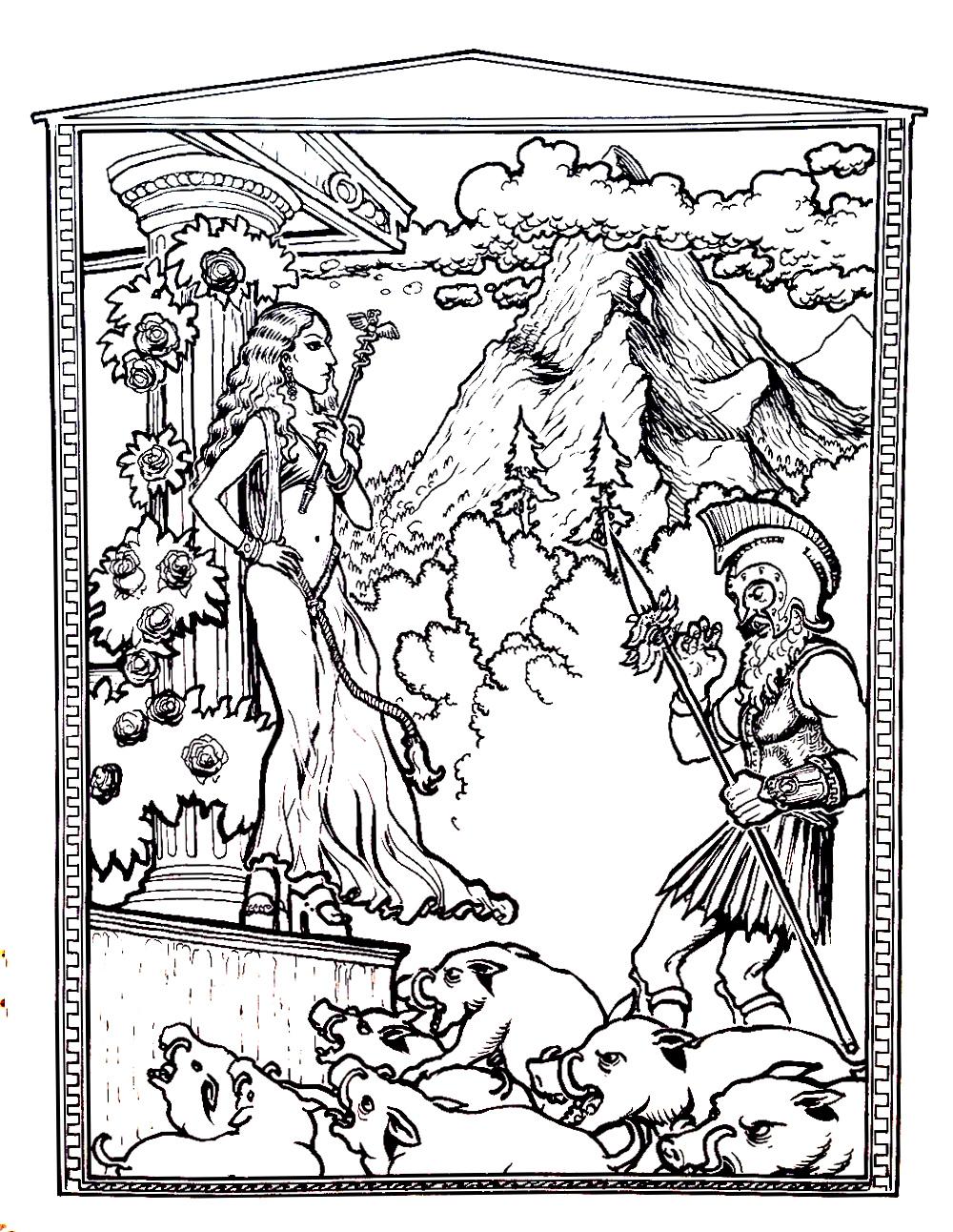 Scene of Homer's Odyssey
