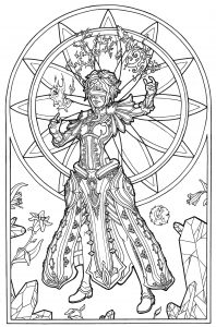 Myths Legends Coloring Pages For Adults