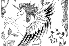 coloring page leen margot unicorn