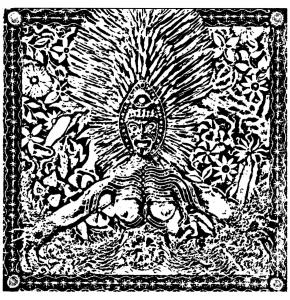 coloring page shamanic drawing